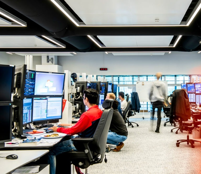 Optiver's institutional trading team in an open office